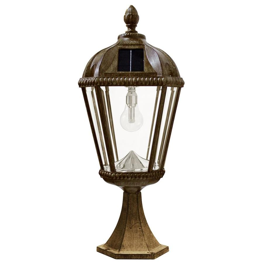 Gama Sonic Royal Bulb 23-in H Weathered Bronze Solar LED Post Light