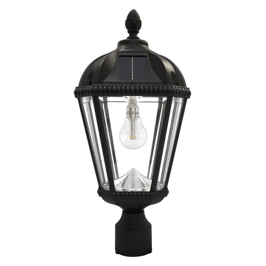 Gama Sonic Royal Bulb 18-in H Black Solar LED Post Light