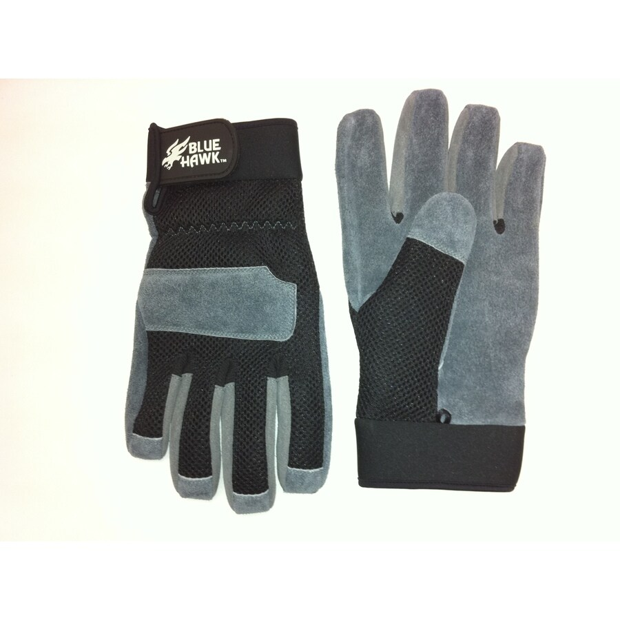 Blue Hawk Large Unisex Leather Palm High Performance Gloves