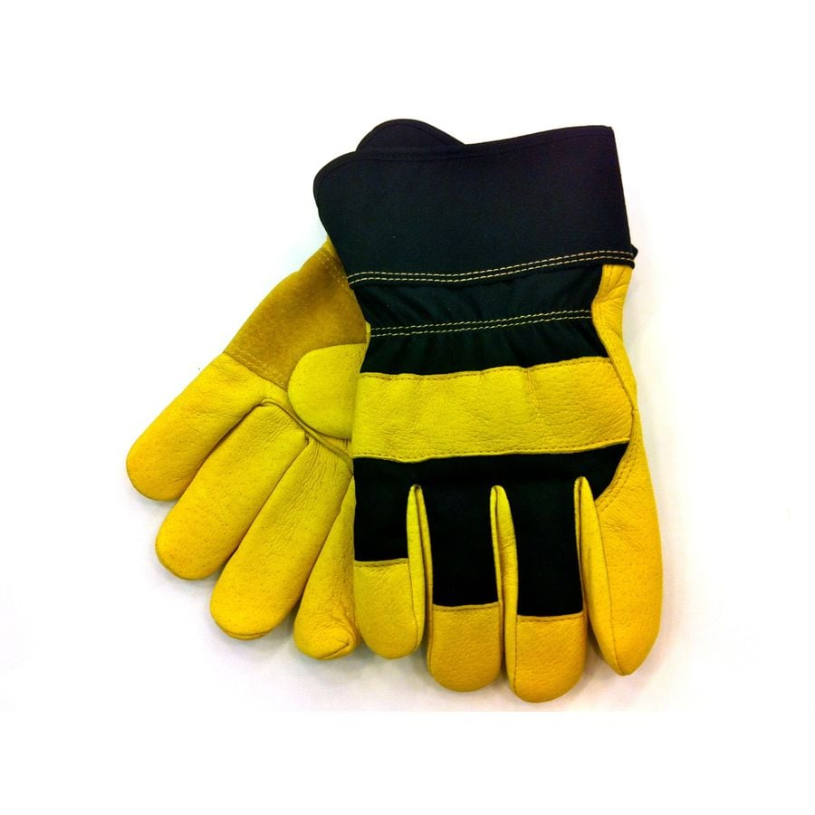 Blue Hawk Large Unisex Leather Palm Work Gloves
