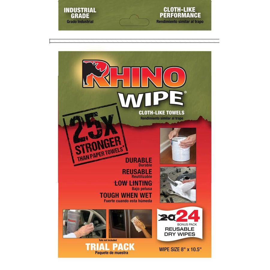 Rhino Wipe Trial Pack Wipes