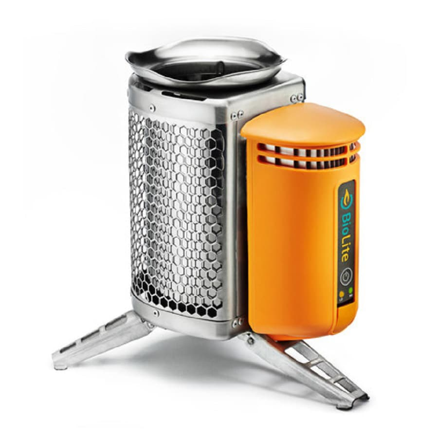 BioLite Campstove 10.5-in Wood Manual Ignition Orange Outdoor Stove