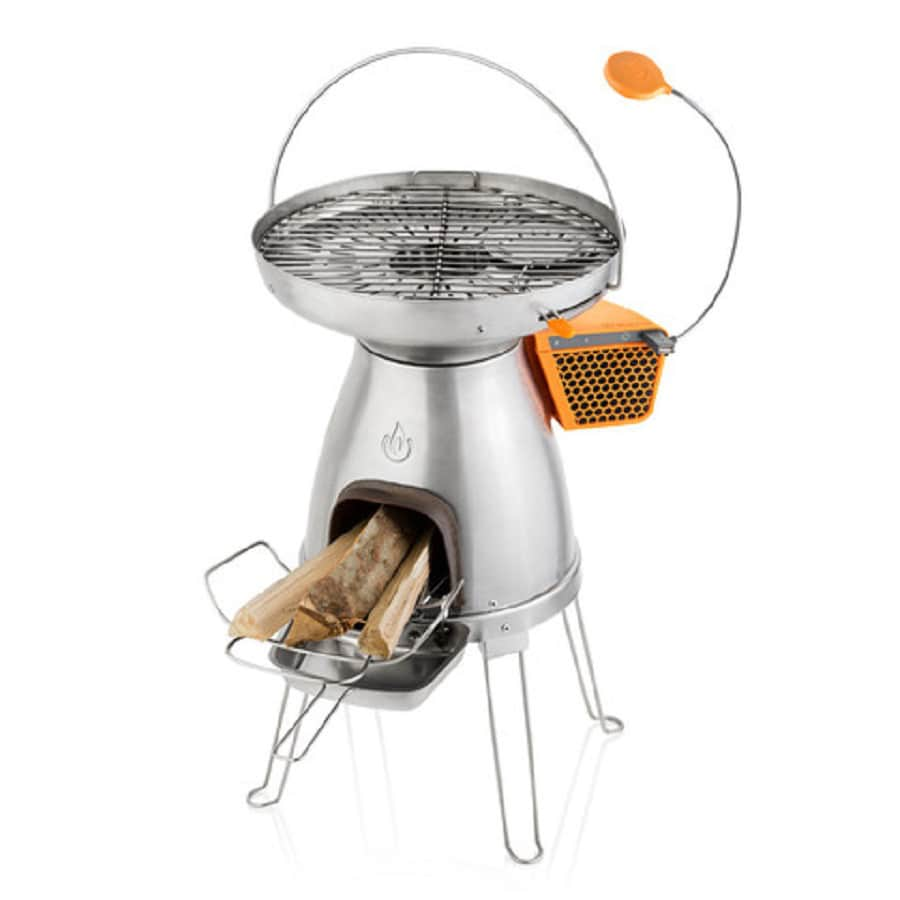 BioLite Basecamp 17.5-in Wood Manual Ignition Orange Outdoor Stove