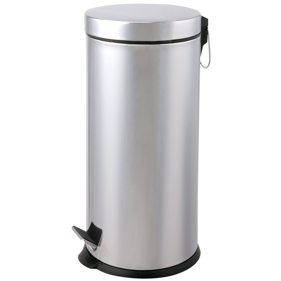 Designers Choice 40-Liter Polished Steel Touchless Trash Can with Lid