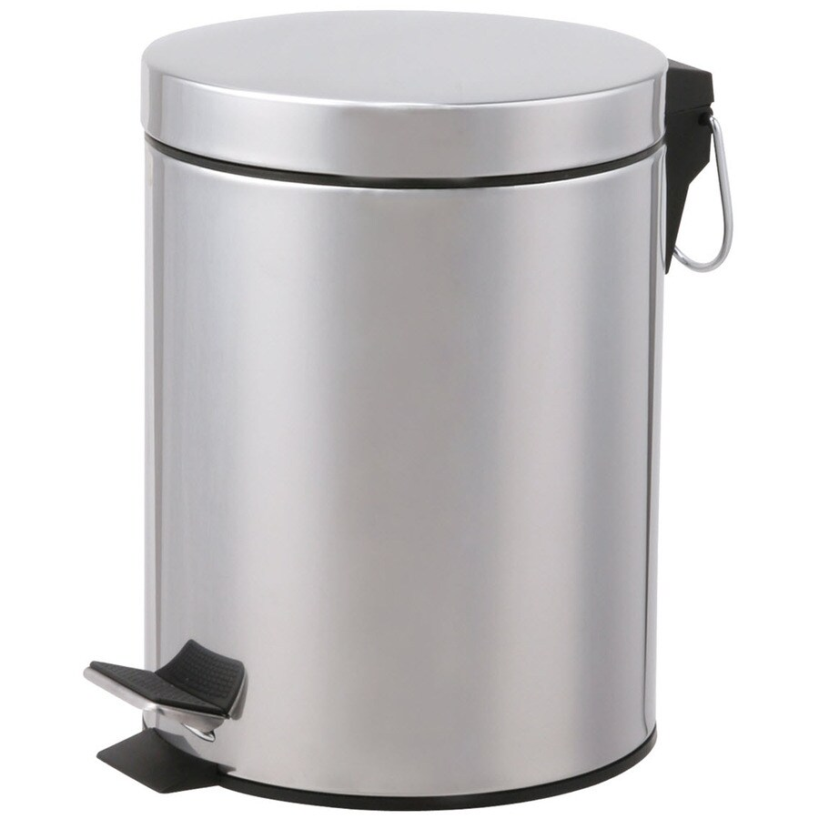 Designers Choice 12-Liter Polished Steel Touchless Trash Can with Lid