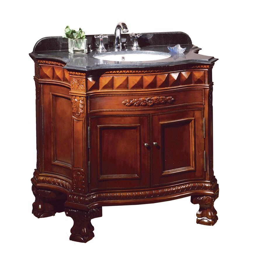 Ove Decors 36 In X 20 Dark Cherry Undermount Single Sink Bathroom Vanity