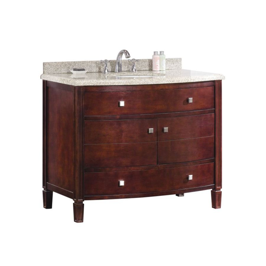 Shop Ove Decors 42 In X 22 In Tobacco Undermount Single Sink Bathroom Vanity With Granite Top At