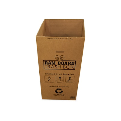 Ram Board Trash Box 45 Gallon Brown Wooden Trash Can In The Trash Cans Department At Lowes Com