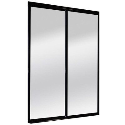 Black Mirrored Glass Closet Doors At Lowes Com