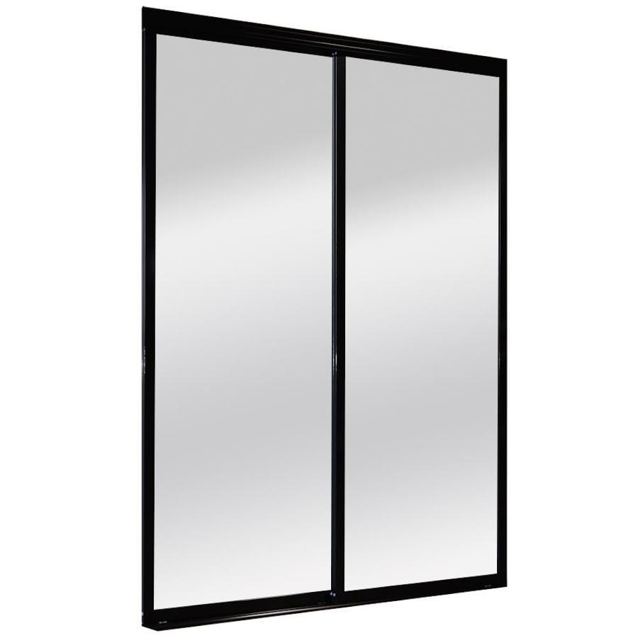 ReliaBilt 9800 Series Boston Black Aluminum Sliding Closet Door With  Hardware (Common: 72