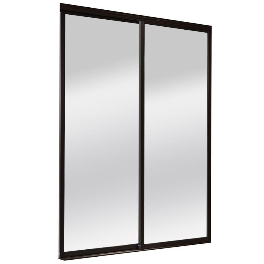 ReliaBilt 9800 Series Boston Mirror Aluminum Sliding Closet Interior Door with Hardware (Common: 48-in x 80-in; Actual: 48-in x 80-in)