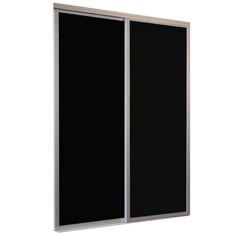 ReliaBilt 9800 Series Boston Aluminum Sliding Closet Interior Door with Hardware (Common: 72-in x 80-in; Actual: 72-in x 80-in)
