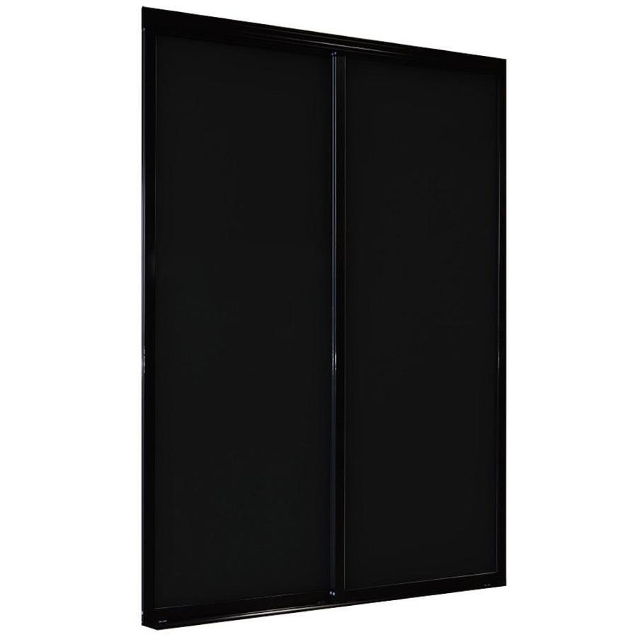 ReliaBilt 9800 Series Boston By-Pass Door (glass/mirror) Sliding closet Interior Door (Common: 48-in x 80-in; Actual: 48.0 x 80.0)