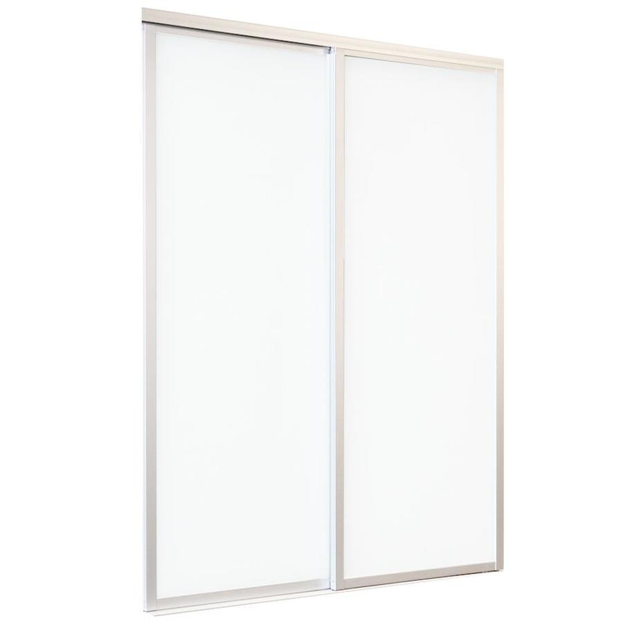 ReliaBilt 9800 Series Boston White Aluminum Sliding Closet Door With  Hardware (Common: 48