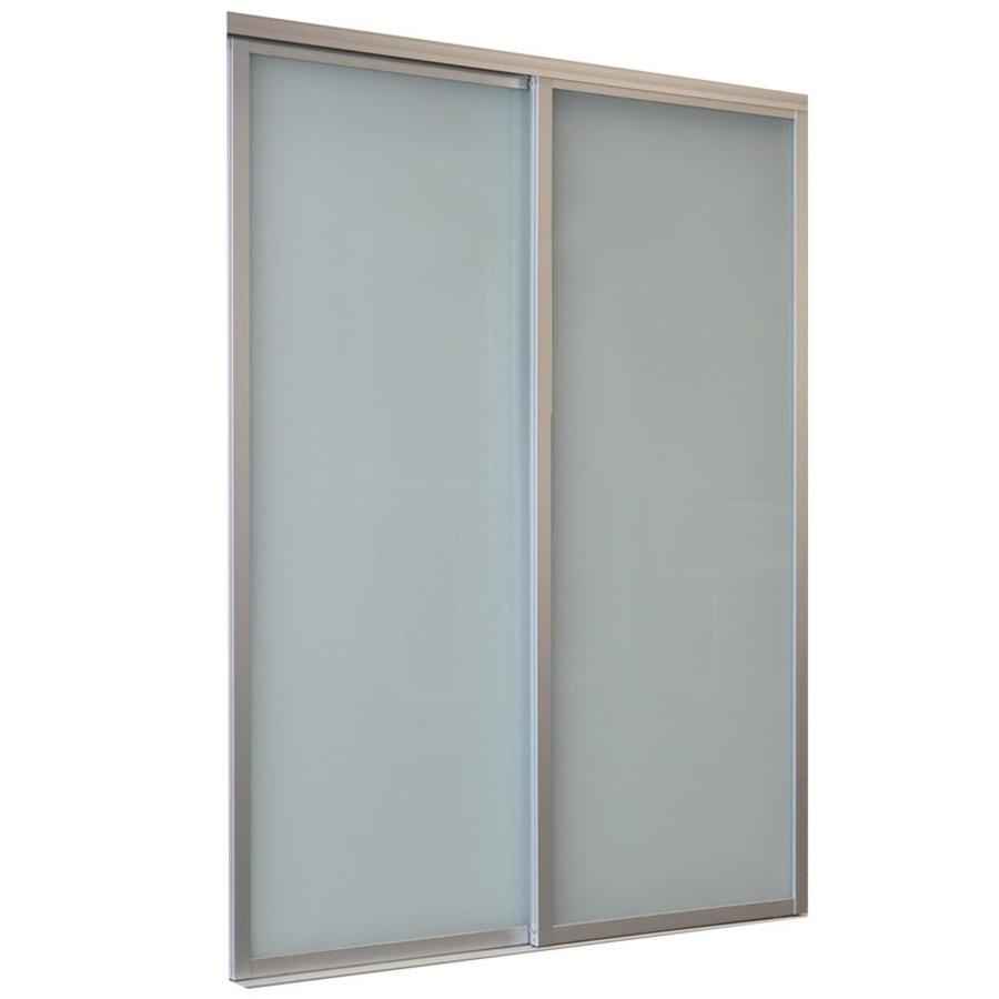 Shop ReliaBilt 9800 Series Boston Frosted Glass Aluminum Sliding