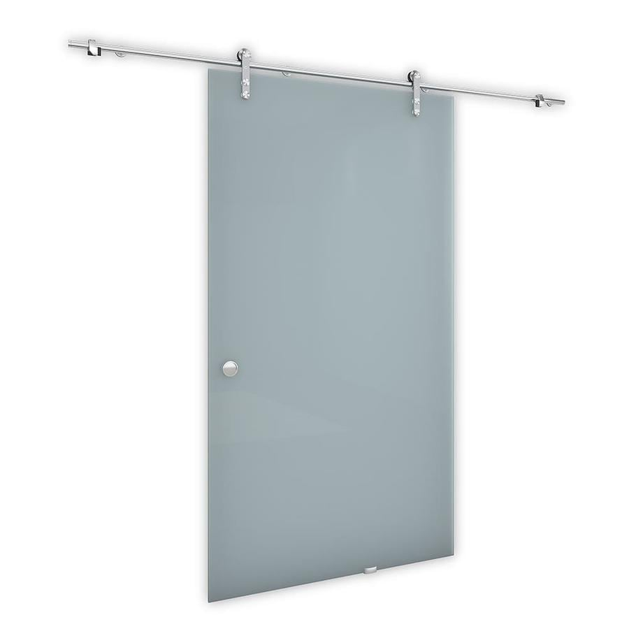 Reliabilt 9860 Series Brushed Chrome Prefinished Aluminum Barn Door Hardware Included Common 36