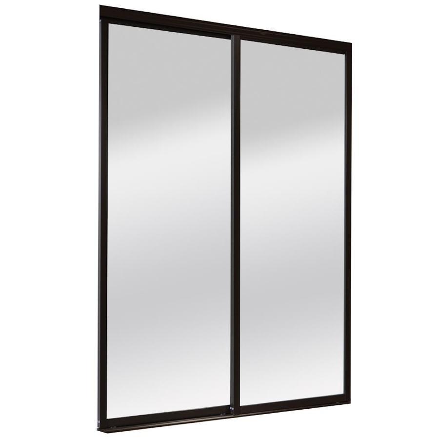 ReliaBilt 9800 Series Boston By-Pass Door (glass/mirror) Mirror Sliding closet Interior Door (Common: 72-in x 96-in; Actual: 72.0 x 96.0)