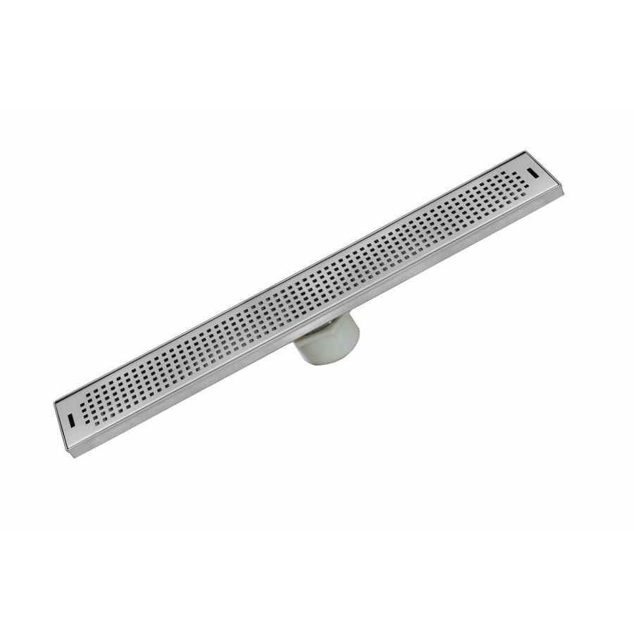 aqva 26in stainless steel stainless steel linear shower drain