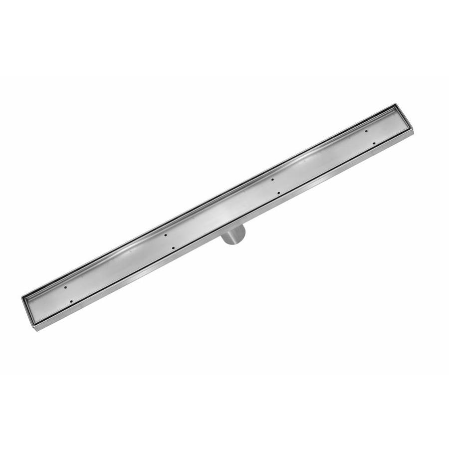 aqva 60in stainless steel stainless steel linear shower drain