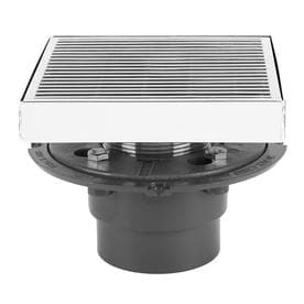 AQVA 5 In Solid Square Stainless Steel Shower Drain