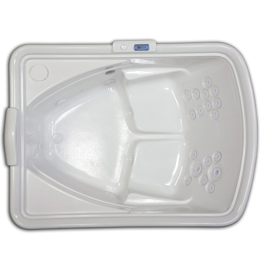 Hydreddi Revolution Revolution 2-Person Biscuit Acrylic Rectangular Whirlpool Tub (Common: 54-in x 72-in; Actual: 28-in x 54-in x 72-in)