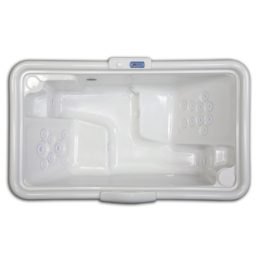 Hydreddi Revolution Revolution 2-Person White Acrylic Rectangular Whirlpool Tub (Common: 42-in x 72-in; Actual: 28-in x 42-in x 72-in)