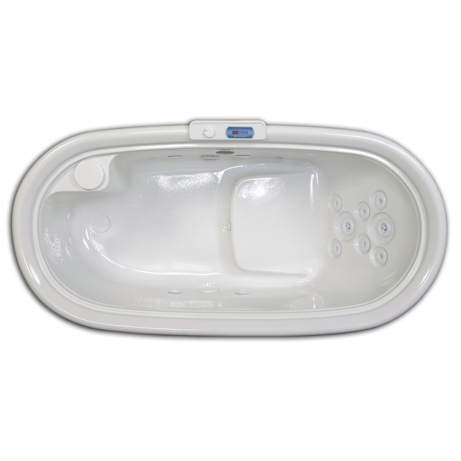 Hydreddi Revolution Revolution Biscuit Acrylic Oval Whirlpool Tub (Common: 36-in x 72-in; Actual: 28-in x 36-in x 72-in)