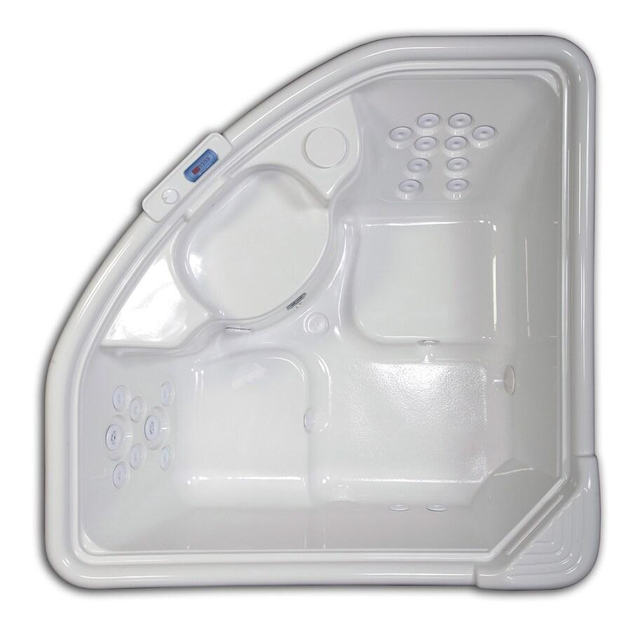 Hydreddi Revolution Revolution 2-Person White Acrylic Corner Whirlpool Tub (Common: 66-in x 66-in; Actual: 28-in x 66-in x 66-in)