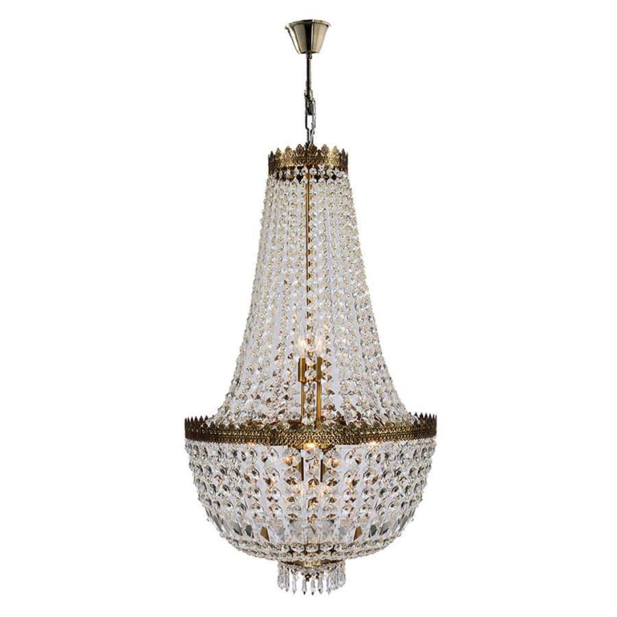 Worldwide Lighting Metropolitan 20-in 8-Light Antique Bronze Crystal Crystal Draped Chandelier