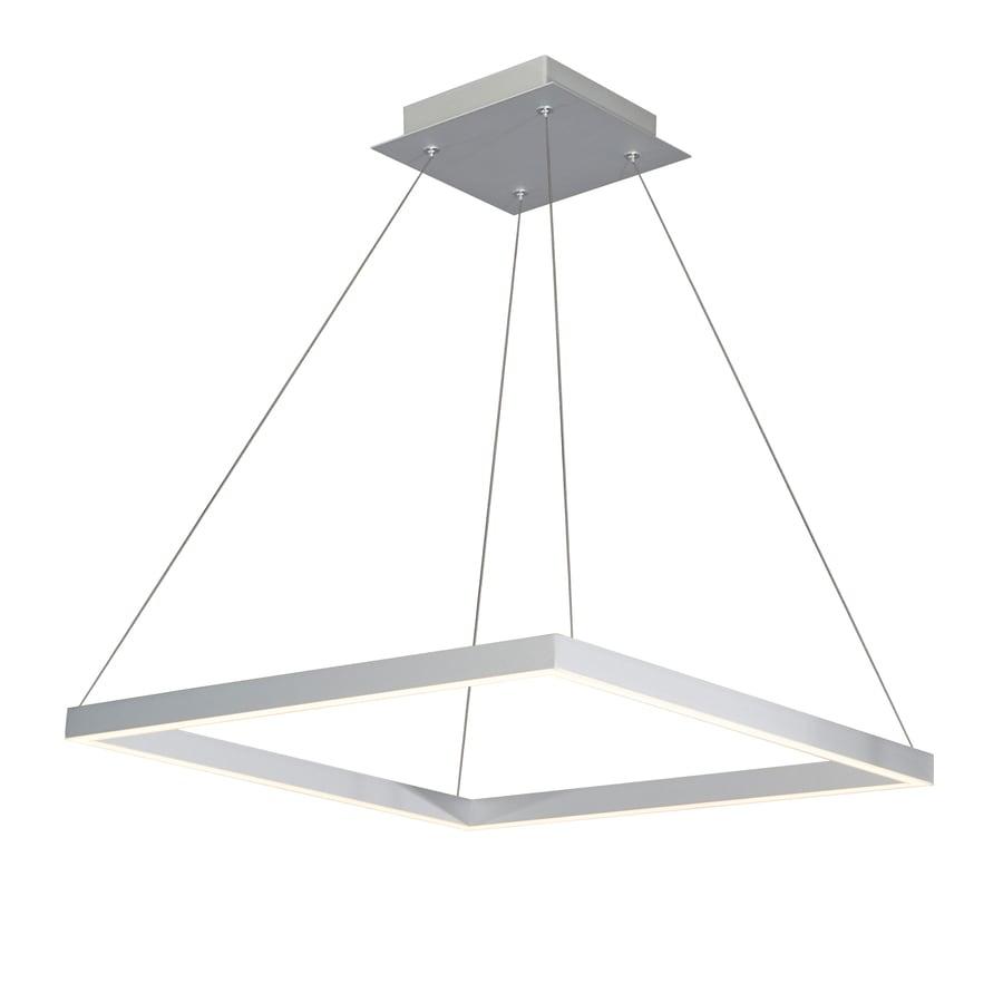 Vonn Lighting Atria Silver Modern Contemporary Square Led Pendant Light In The Pendant Lighting Department At Lowes Com