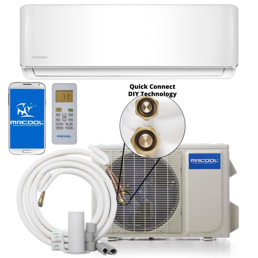 MRCOOL Do It Yourself 34400-BTU 1500-sq ft Single Ductless Mini Split Air Conditioner with Heater
