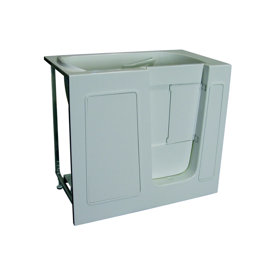 Total Care in Bathing White Gelcoat/Fiberglass Rectangular Walk-in Bathtub with Right-Hand Drain (Common: 26-in x 46-in; Actual: 40-in x 26-in x 45-in