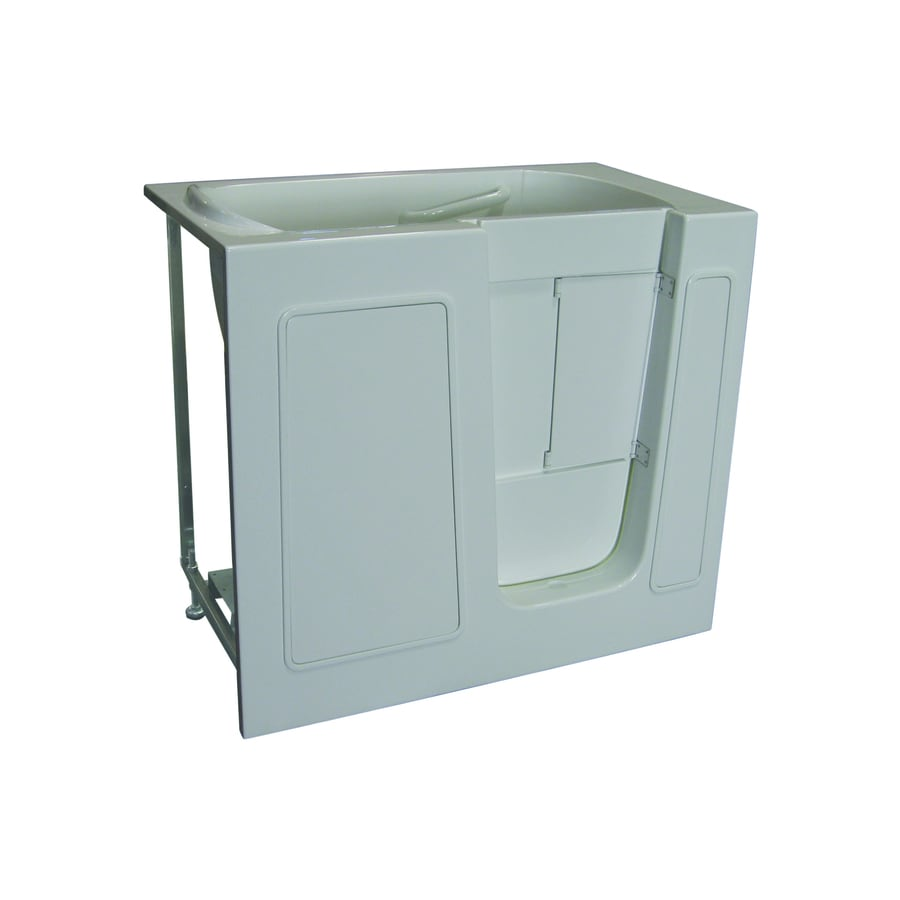 Total Care in Bathing BS Series 45-in White Gelcoat/Fiberglass Walk-In Whirlpool Tub And Air Bath with Right-Hand Drain