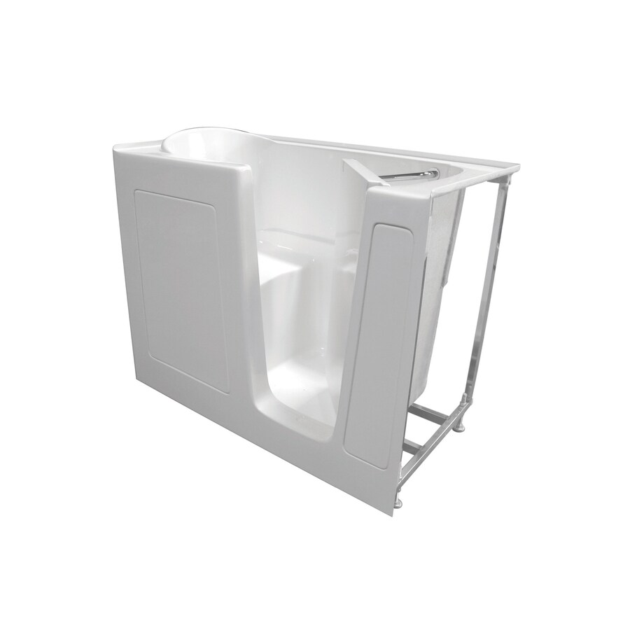 Total Care in Bathing 52-in White Gelcoat/Fiberglass Walk-In Bathtub with Right-Hand Drain
