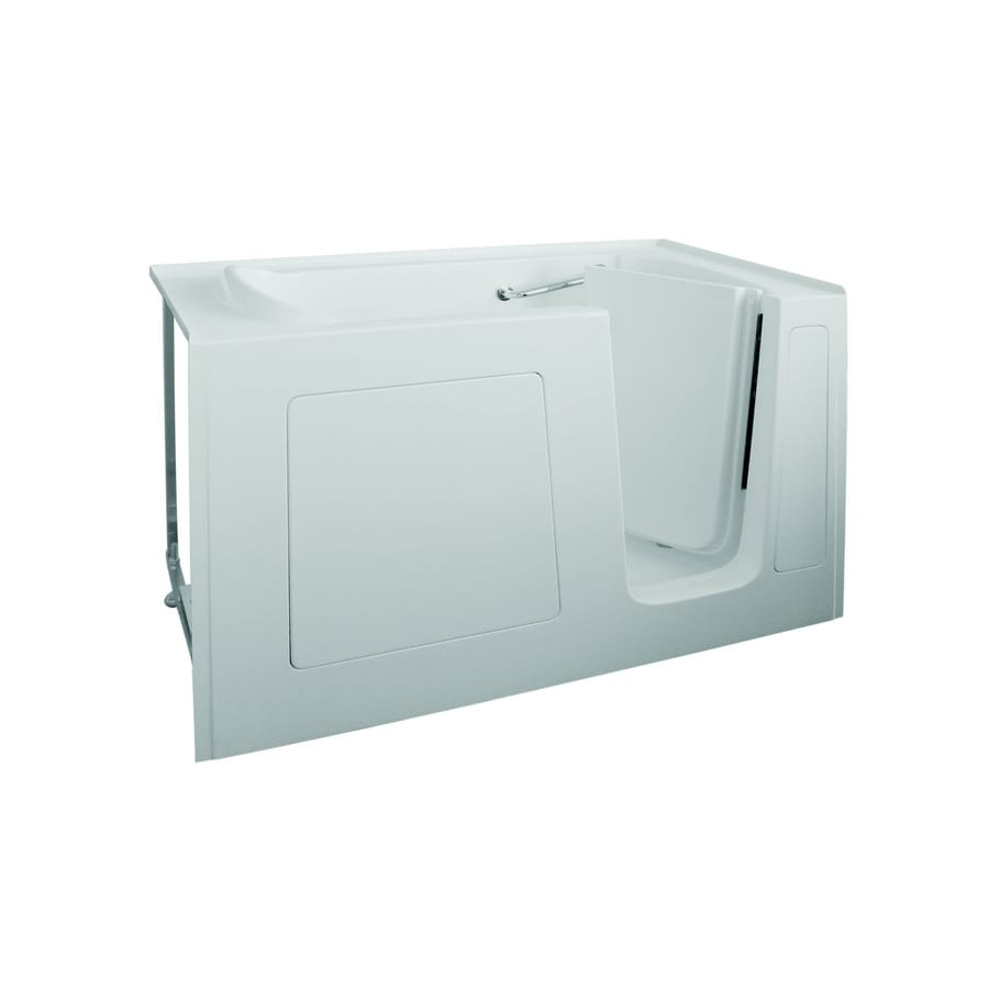 Total Care in Bathing 60-in White Gelcoat/Fiberglass Walk-In Bathtub with Right-Hand Drain