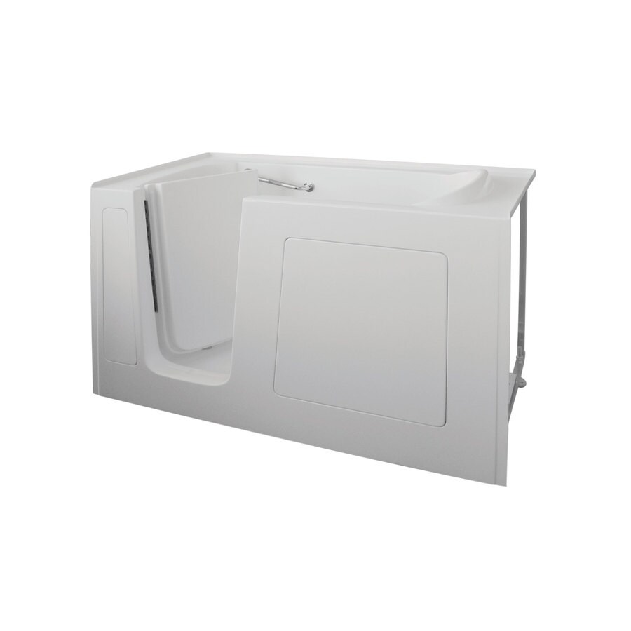 Total Care in Bathing White Gelcoat/Fiberglass Rectangular Walk-in Bathtub with Left-Hand Drain (Common: 32-in x 60-in; Actual: 37-in x 32-in x 60-in)