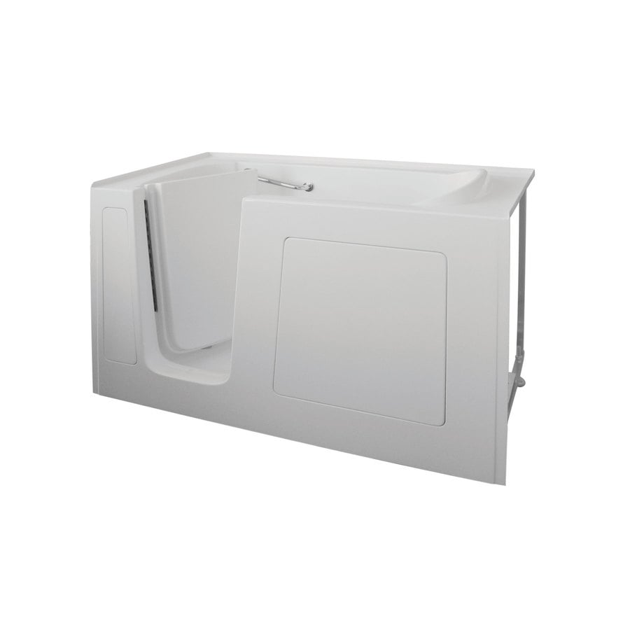 Total Care in Bathing Bs Series 60-in L x 32-in W x 37-in H White Gelcoat and Fiberglass Rectangular Walk-in Whirlpool Tub and Air Bath