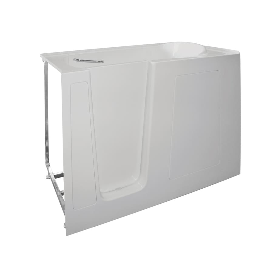 Total Care in Bathing 60-in White Gelcoat/Fiberglass Walk-In Bathtub with Left-Hand Drain