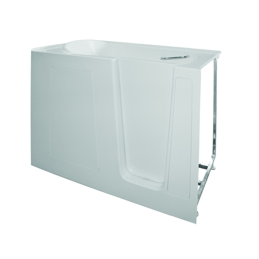 Total Care in Bathing BS Series 60-in White Gelcoat/Fiberglass Walk-In Whirlpool Tub and Air Bath with Right-Hand Drain