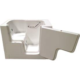 Total Care In Bathing 52 In White Gelcoat/Fiberglass Rectangular Right Hand  Drain