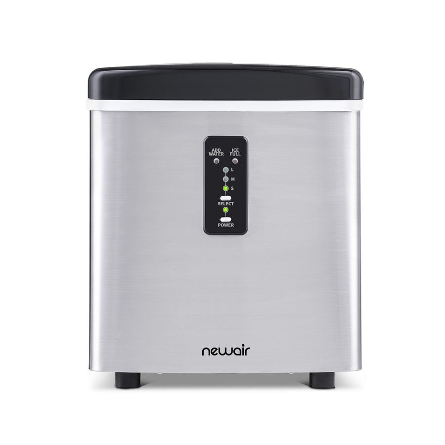 NewAir 28-lb Portable Ice Maker (Stainless Steel and Black)