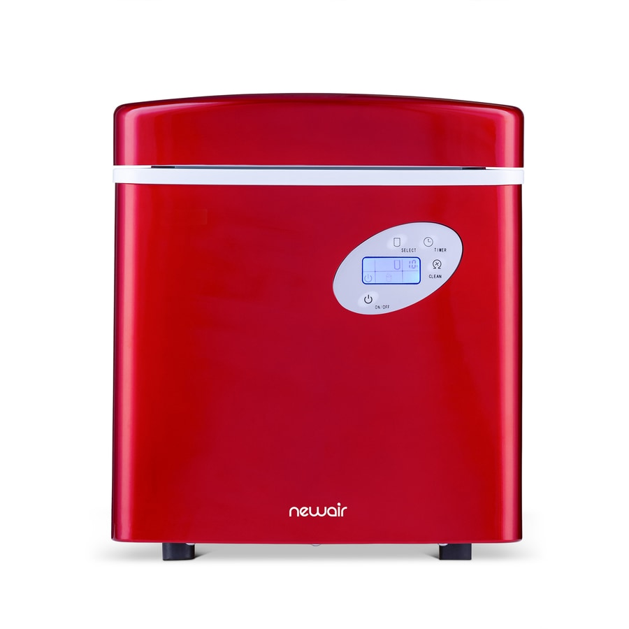 Shop Newair 50 Lb Drop Down Portable Ice Maker Red At