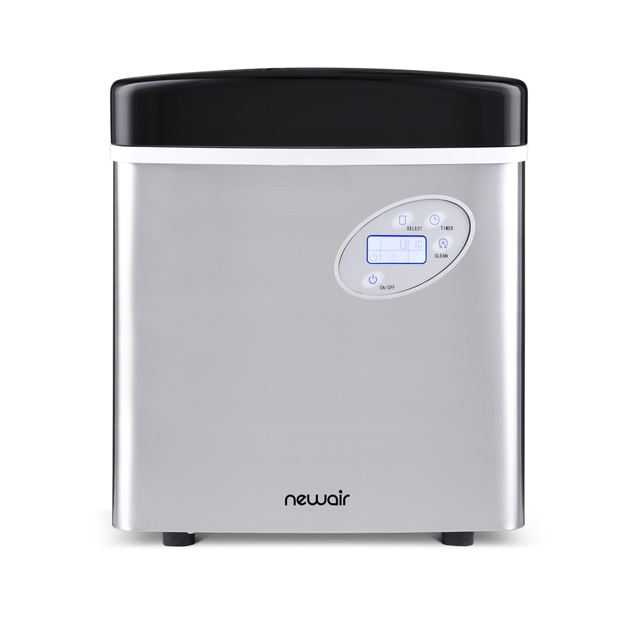NewAir 50-lb Portable Ice Maker (Stainless Steel and Black)