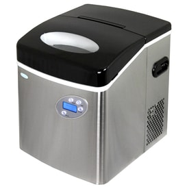 NewAir 50 Lb Drop Down Portable Ice Maker (Stainless Steel And Black)
