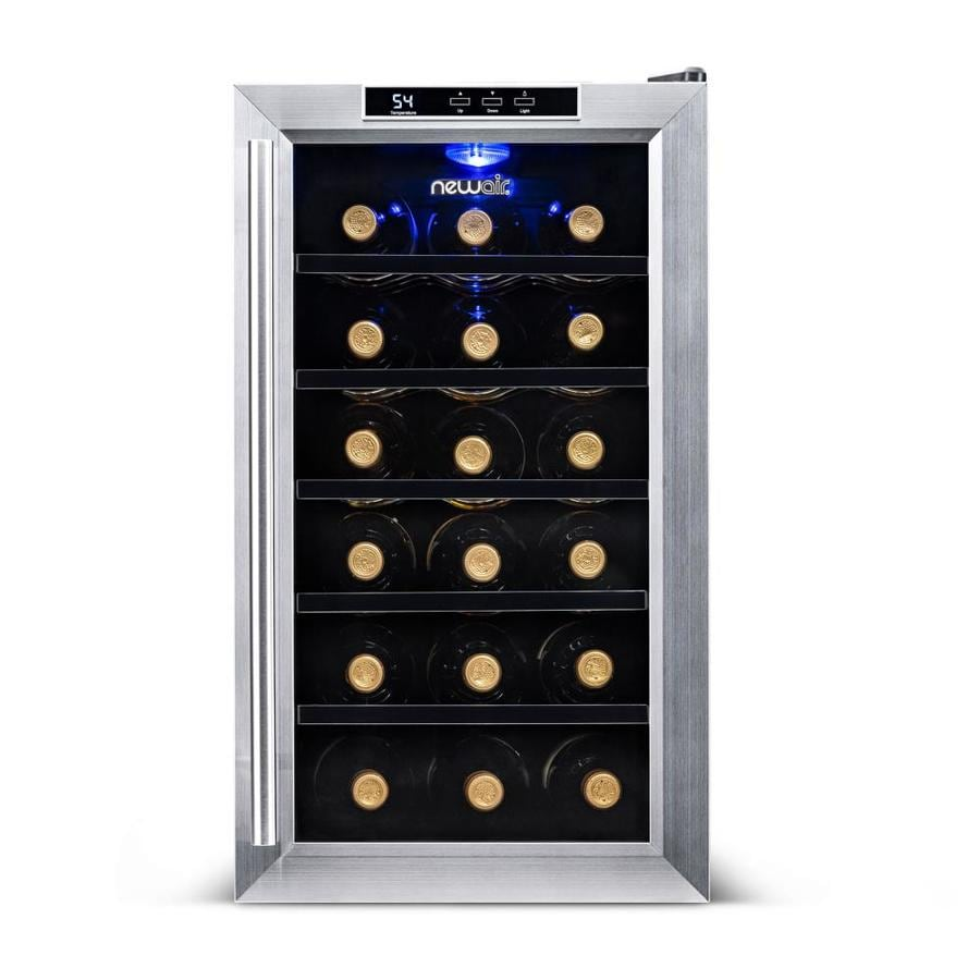 Shop Newair 18 Bottle Stainless Steel Wine Chiller At