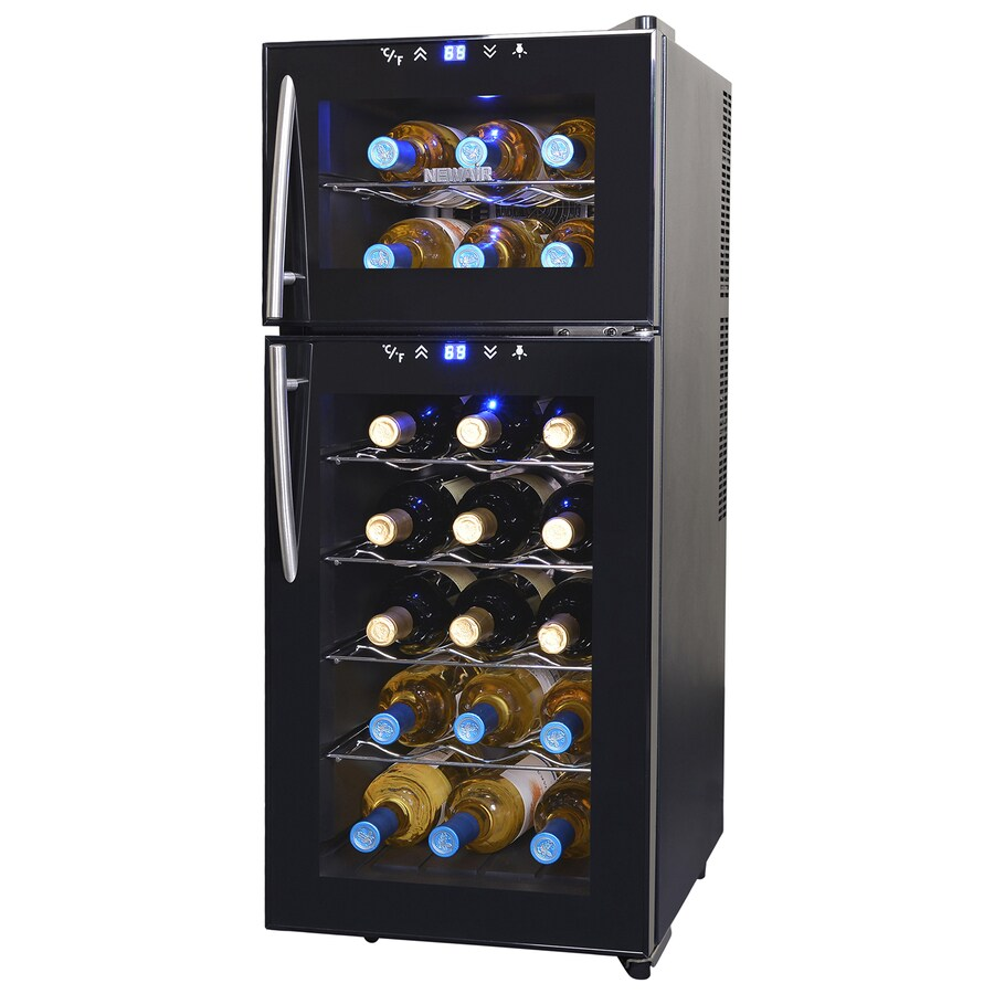 NewAir 21-Bottle Black Dual Zone Wine Chiller