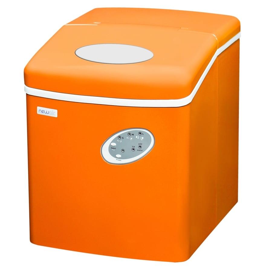 NewAir 28-lb Drop-down Portable Ice Maker (Orange)