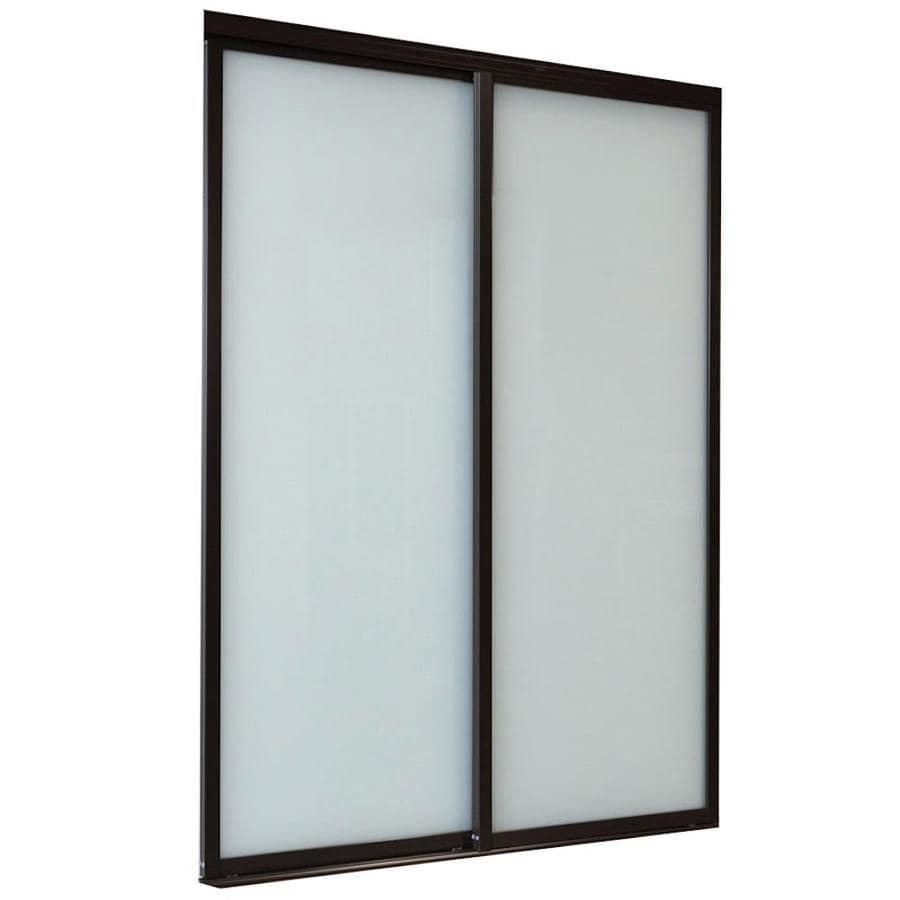 Interior Doors Frosted Glass shop reliabilt frosted glass sliding closet interior door (common