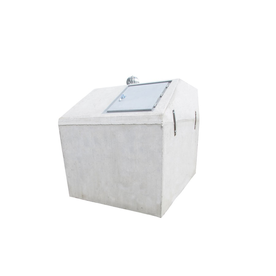 TornadoSafe (Interior Dimensions: 6.6-ft x 10-ft x 6.2-ft) Concrete In-Ground Exterior Tornado Shelter