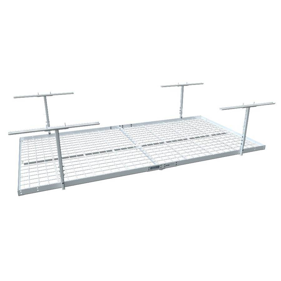 Strong Racks 48-in W x 96-in D White Steel Overhead Garage Storage
